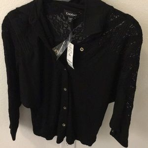 Bebe collared lace top
